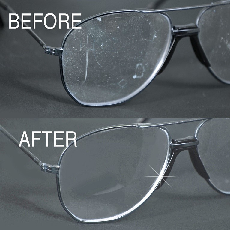 before after - eyeglasses